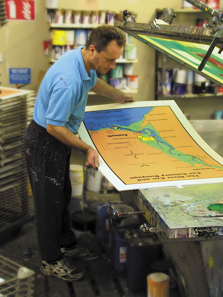 Screen Printing Information Boards